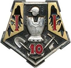 10e Régiment du Génie dont faisait partie notre sapeur pendant la Première Guerre Mondiale