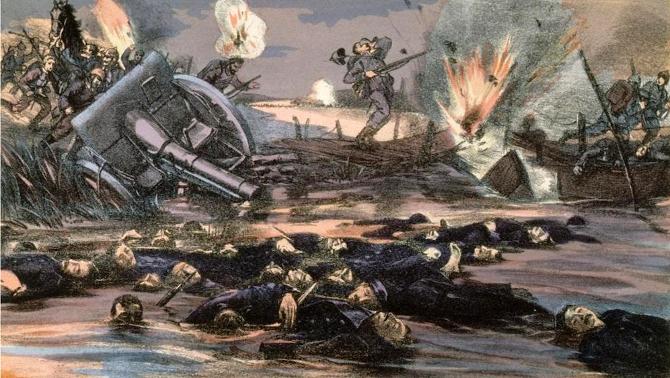Bataille de l'Yser, près de Bixschoote, Grande Guerre