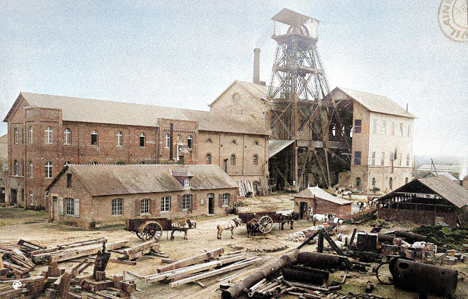 La mine de Pont-Péan colorisée